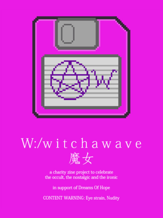 W:/witchawave, aesthetic, zine, witchawave
